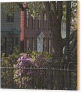 William Street In Bloom Wood Print