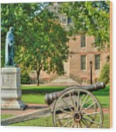 Williamsburg Cannon Wood Print