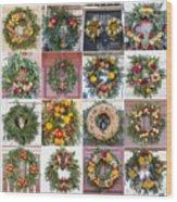 Williamsburg Christmas Collage Squared 3 Wood Print