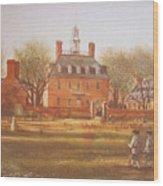 Williamsburg Governors Palace Wood Print