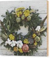 Williamsburg Wreath 09b Wood Print