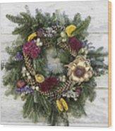 Williamsburg Wreath 10b Wood Print