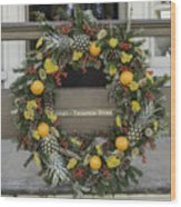 Williamsburg Wreath 18 Wood Print