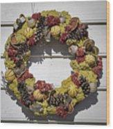Williamsburg Wreath 29 Wood Print
