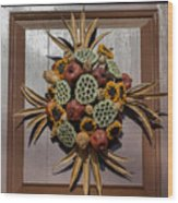 Williamsburg Wreath 35 Wood Print