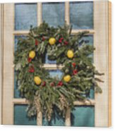 Williamsburg Wreath 37 Wood Print
