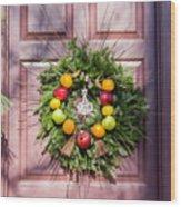 Williamsburg Wreath 53 Wood Print