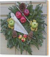 Williamsburg Wreath 87 Wood Print