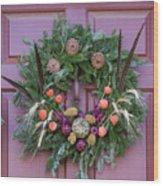 Williamsburg Wreath 92 Wood Print
