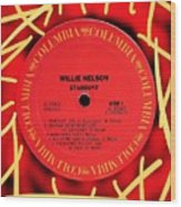 Willie Nelson Stardust Lp Label Wood Print