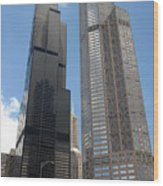 Willis Tower Aka Sears Tower And 311 South Wacker Drive Wood Print