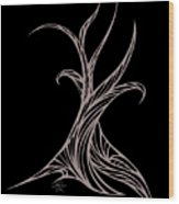 Willow Curve Wood Print