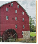 Willow Grove Mill Spring Day Wood Print