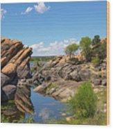Willow Lake And Granite Dells Wood Print