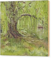 Willow Swing Wood Print
