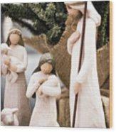 Willow Tree Nativity At Christmas Wood Print