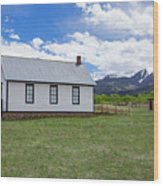 Willows School Below The Wet Mountain Range Wood Print