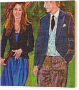 Wills And Kate The Royal Couple Wood Print