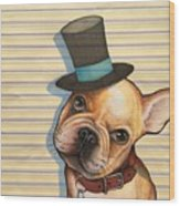 Willy In A Top Hat Wood Print