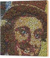 Willy Wonka Fizzy Lifting Bottle Cap Mosaic Wood Print