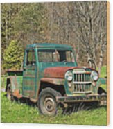Willys Jeep Pickup Truck Wood Print
