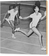 Wilma Rudolph 1940-1994 At The Finish Wood Print by Everett