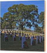 Wilmington National Cemetery Christmas Wood Print