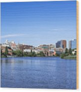 Wilmington Skyline Wood Print