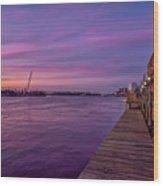 Wilmington Waterfront Wood Print