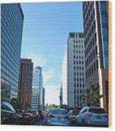 Wilshire Blvd  - West La Traffic Wood Print