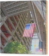 Wilson Hall At Fermilab - Interior Wood Print