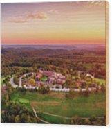 Wilson Lodge Panorama Wood Print