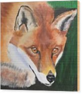 Wily Fox Wood Print