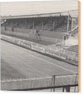Wimbledon Fc - Plough Lane - South Stand 1 - Bw - 1969 Wood Print