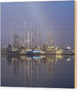 Winchester Bay Fishing Boats Wood Print