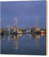 Winchester Bay Reflections Wood Print