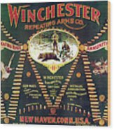 Winchester Double W Cartridge Board Wood Print by Unknown