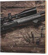 Winchester M70 Wood Print