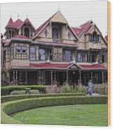 Winchester Mystery House Wood Print by Daniel Hagerman