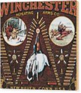 Winchester W Cartridge Board Wood Print
