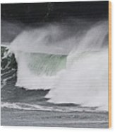 Wind And Waves In Oregon Wood Print