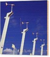 Wind Energy Turbines Wood Print