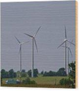 Wind Generators Wood Print
