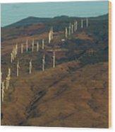 Wind Generators-signed-#0037 Wood Print
