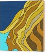Wind Goddess Wood Print