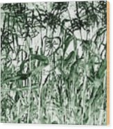 Wind In The Corn Wood Print