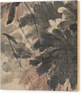 Wind In The Lotus Wood Print