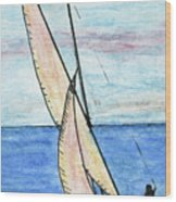 Wind In The Sails Wood Print