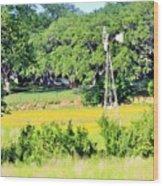 wind mill N weeds Wood Print