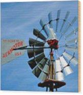 Wind Mill Pump In Usa 2 Wood Print
